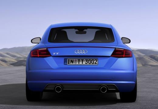 Audi TT blau Heck