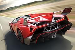 Lamborghini Veneno von hinten