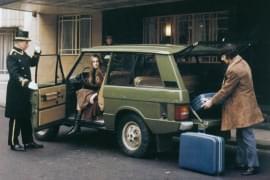 Range Rover vor Hotel