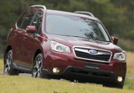 Subaru Forester in Rot Frontansicht