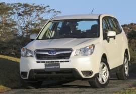 Subaru Forester weiß Frontansicht